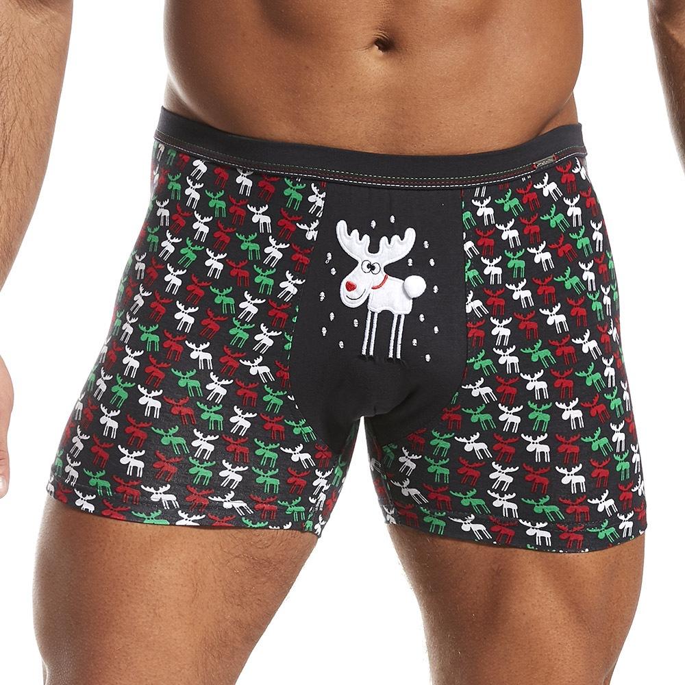 Pánské boxerky Vánoční sobíci