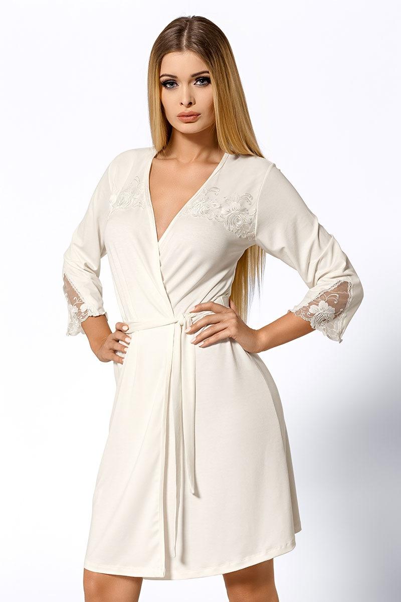 Luxusní župan Salomea Ecru