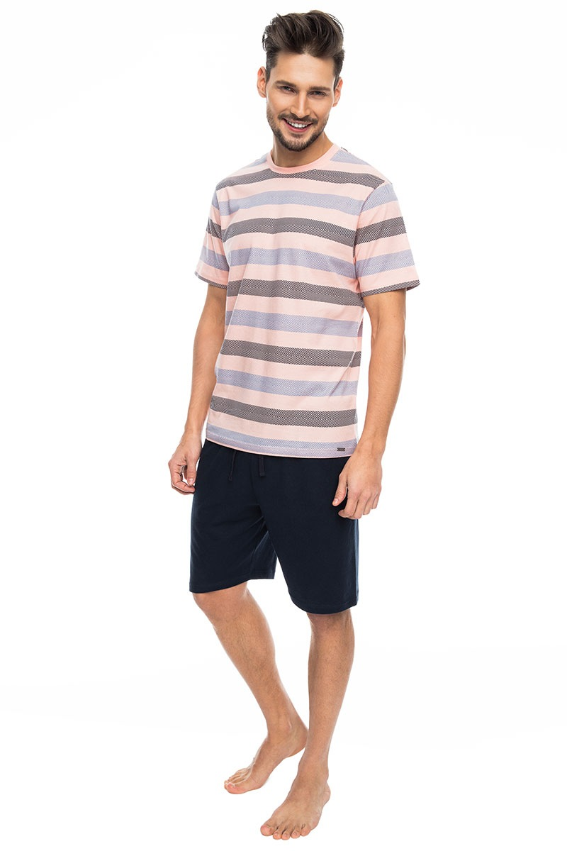 Pánské pyžamo Pink stripes