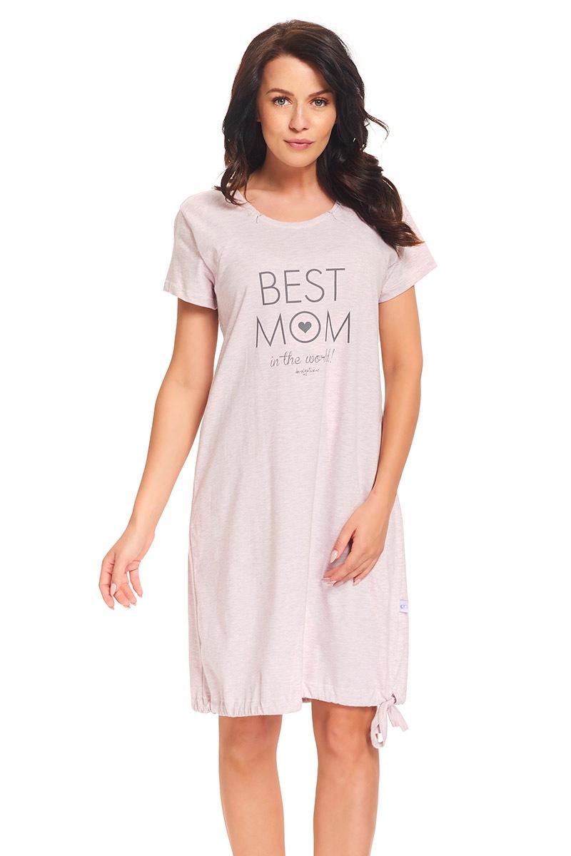 Mateřská, kojící košilka Best Mom Pink
