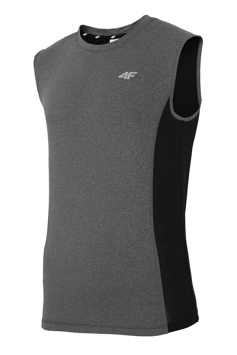Pánské sportovní triko bez rukávů 4f Grey
