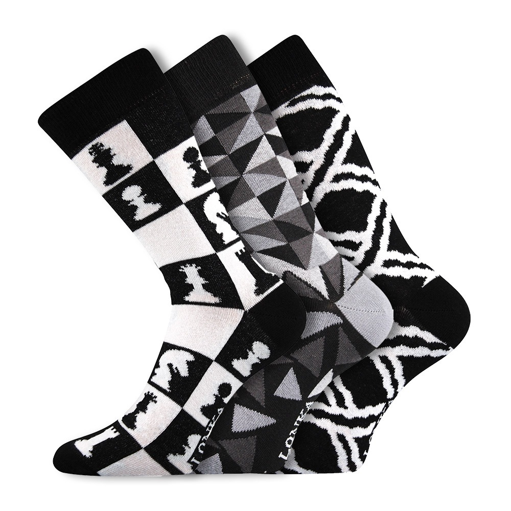 3pack módních ponožek Woodoo MixC