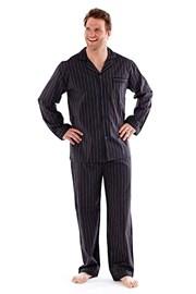 Pánské pyžamo Harvey Black Stripe Long