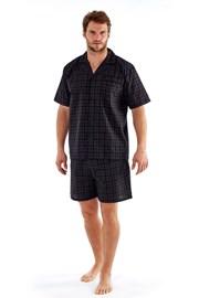 Pánské pyžamo Harvey Black Check