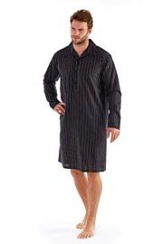 Pánská noční košile Harvey Black Stripe