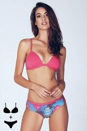 Podprsenka Chantay Pink bez kostic s kalhotkami