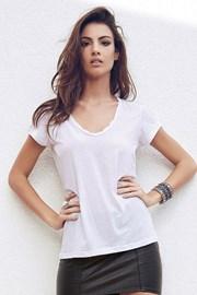 Dámské bavlněné triko Madie White
