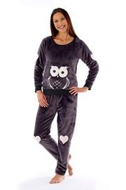 Dámské pyžamo Owl grafit