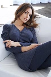 Dámské italské pyžamo Lazy days blue