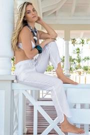 Lněné italské letní kalhoty z kolekce Iconique 681KA