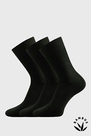 3pack ponožek Badon černá bambus