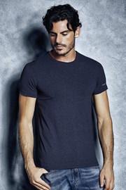 Pánské bavlněné triko 1504 Mel Blue