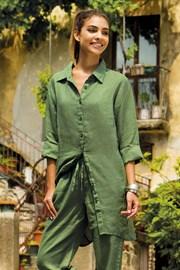 Dámské lněné košilové šaty Sherie Green z kolekce Iconique