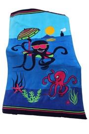 Dětská plážová osuška Octopus