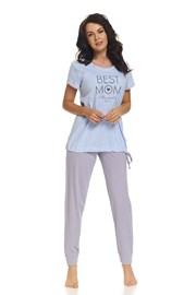 Mateřské, kojicí pyžamo Best Mom Blue