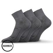 3pack ponožek Raban tmavě šedá bambus