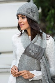 Dámská elegantní čepice Silvia šedá
