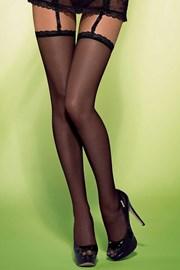 Luxusní punčochy na podvazkový pás Slevika