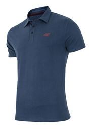 Pánské sportovní tričko s límečkem 4f navy