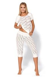 Svůdné luxusní pyžamo Thelma Ecru