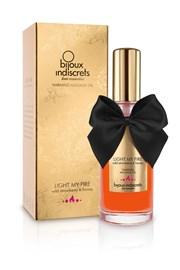 Bijoux Indiscrets Hřejivý masážní olej Light my Fire jahodový