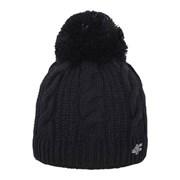 Dámská pletená čepice 4f Black