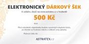 ELEKTRONICKÝ dárkový šek 500 Kč