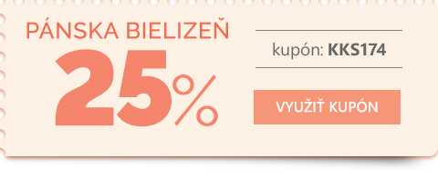 Pánska bielizeň -25 %