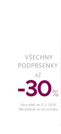 Podprsenky až -30 %.