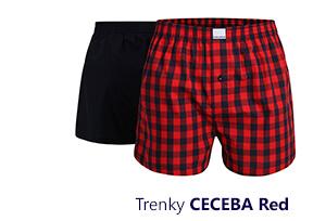 2 pack pánských trenek CECEBA Red