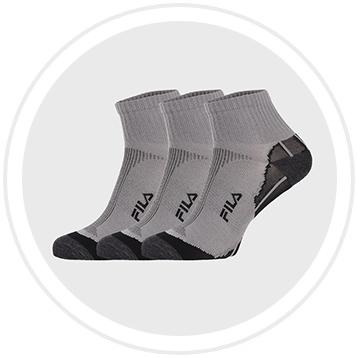 3 PACK сиви чорапи FILA