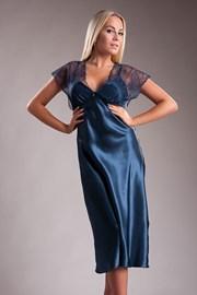 Elegantní dlouhá saténová košilka Paris