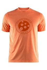Triko CRAFT Melange Graphic oranžové