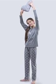 Dívčí pyžamo Meow šedé
