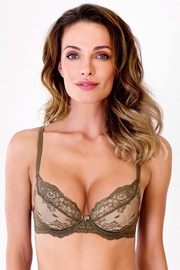 Podprsenka Dark Olive Push-Up