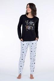 Dámské pyžamo Party černé