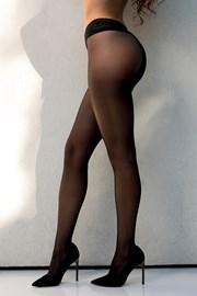 Punčochové kalhoty Amira s otevřeým klínem
