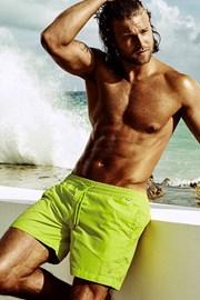 Pánské plavkové šortky DAVID 52 Big Size Caicco Lime