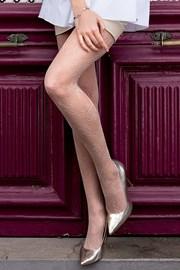 Vzorované punčochové kalhoty Brigitte 09