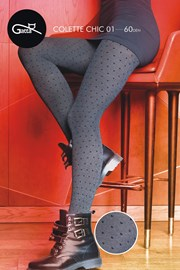Vzorované punčochové kalhoty Colette Chic 01