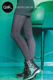 Vzorované punčochové kalhoty Colette Chic 03