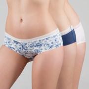 3 pack klasických kalhotek Kristie Blue