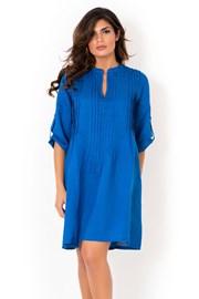Dámské lněné letní šaty David Beachwear Blue 05 lněné