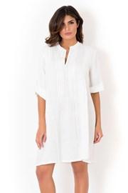 Dámské italské letní šaty David Beachwear White 05 lněné