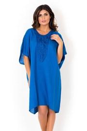 Dámské lněné plážové šaty David Beachwear Blue