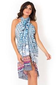 Plážový šátek,pareo italské značky David Beachwear kolekce Gujarat 180x110cm