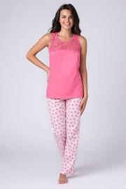 Dámské pyžamo Jersey růžové
