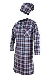 Pánská noční košile s čepičkou CORNETTE Red