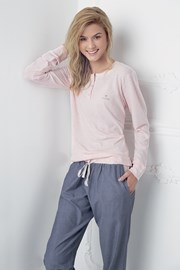 Dámské pyžamo Alice růžovo-modré
