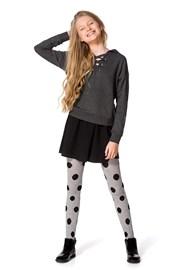 Dívčí bavlněné punčocháče Febe šedé
